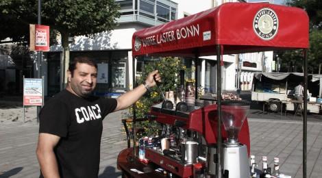 Kaffee-Pedalritter zwischen Gronau und Godesberg